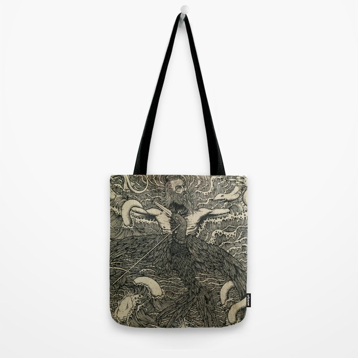 Albatross {black & white}. Tote Bag