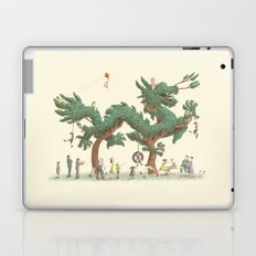 The Night Gardener - Dragon Topiary  Laptop & iPad Skin
