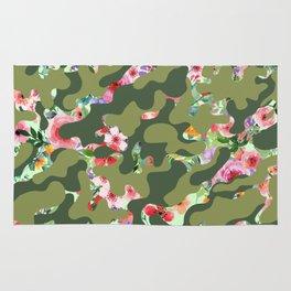 Floral camouflage Rug