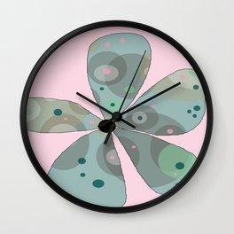 FLOWERY  ROSA / ORIGINAL DANISH DESIGN bykazandholly Wall Clock