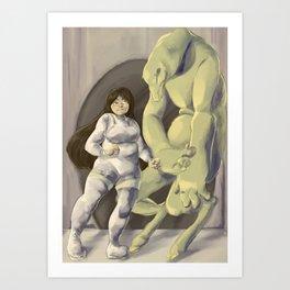 Space Monsters Art Print