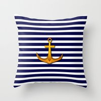marine Throw Pillows featuring Marine by Elena Indolfi