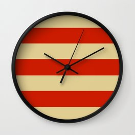 Tan and Orange Stripes Wall Clock