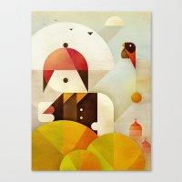 birdman Canvas Prints featuring Birdman by Squizzato