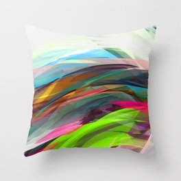 Summer Wave Throw Pillow