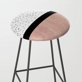Pink marble and dots Bar Stool