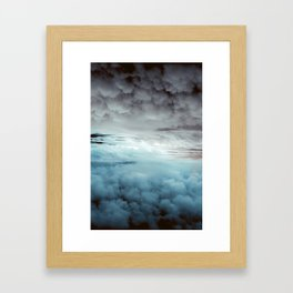 Glacier Painted Clouds Framed Art Print