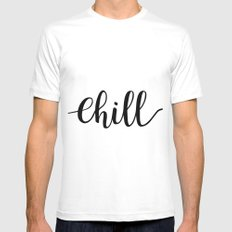 Chill White Mens Fitted Tee MEDIUM