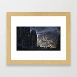 La Cite perdue Framed Art Print