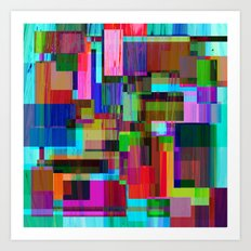 Cubist Candy Art Print