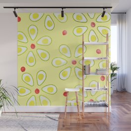 Avocado Sunny Party Pattern Wall Mural