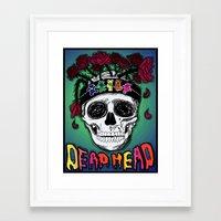 grateful dead Framed Art Prints featuring Grateful Dead Poster by JRyann Studio