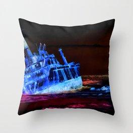 shipwreck aqrestdi Throw Pillow