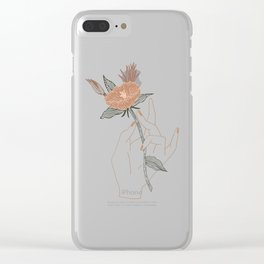 Hand Floral Clear iPhone Case
