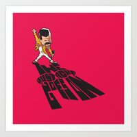The Mustache Goes On Art Print