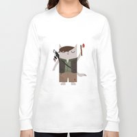 daryl dixon Long Sleeve T-shirts featuring Daryl Dixon the Cat by The Cat