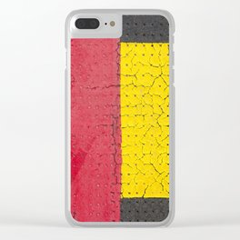 Red Grey Yellow Clear iPhone Case