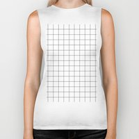 grid Biker Tanks featuring grid by 550am