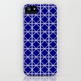 Navy Triangle Square iPhone Case