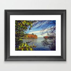 Autumn Peek-a-Boo Framed Art Print