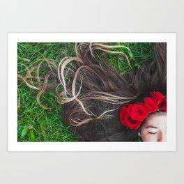 Festival Flower Girl Art Print