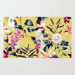 Colorful vibrant bloom Rug
