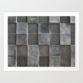 cubic brutalism Art Print