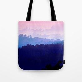 Mountain View Pastel Pink Tote Bag