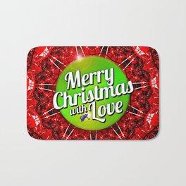 Merry Christmas with Love Bath Mat