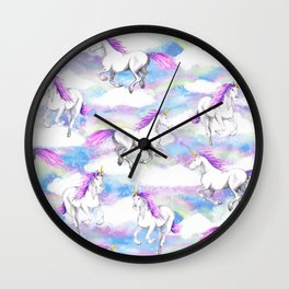 Unicorns and Rainbows Wall Clock