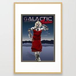 Galactic Cover Girl Framed Art Print