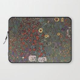 Country Garden with Sunflowers - Gustav Klimt Laptop Sleeve