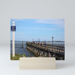 Fishing In Southport Mini Art Print