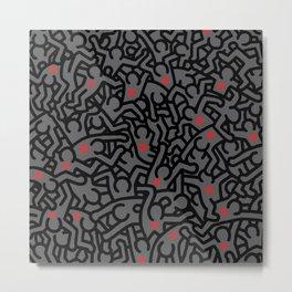 Keith Haring Variation #32 Metal Print