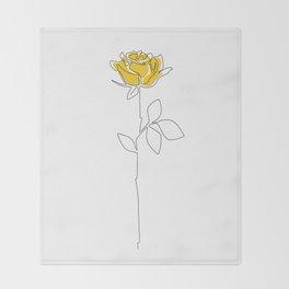 Lemon Rose Throw Blanket