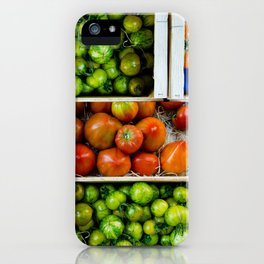 Colorful tomatoes iPhone Case