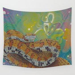 Serpent Goddess, Fantasy Snake Art Wall Tapestry