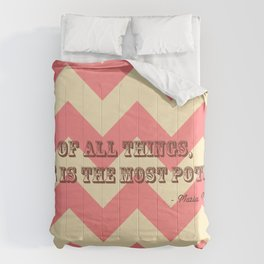 Chevron Love Comforters