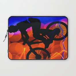 BMX in Light Crystals and Lightning Laptop Sleeve