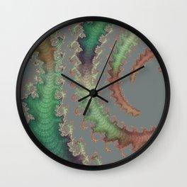Shiny Fractal Wall Clock