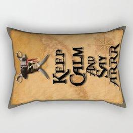 Keep Calm And Say ARRR Rectangular Pillow