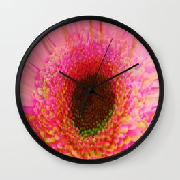 pink gerb Wall Clock