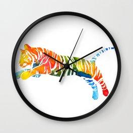 Pouncing Tiger Wall Clock