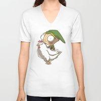 invader zim V-neck T-shirts featuring Invader Link by Legendary Phoenix