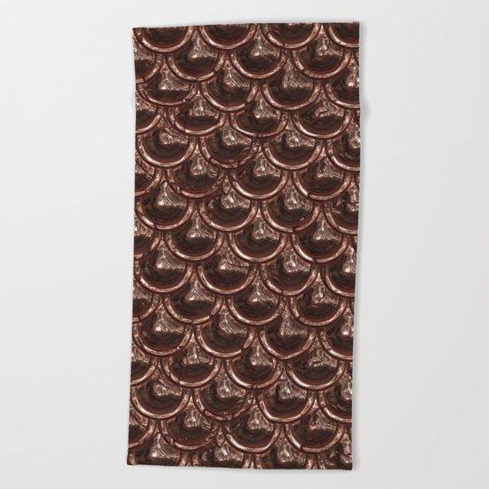 Precious copper scales Beach Towel