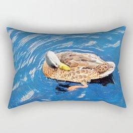 Making Waves While Preening Rectangular Pillow