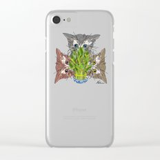 Lucky Kitten Bamboo Clear iPhone Case
