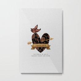 Birthday Gift January Metal Print