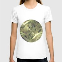 metallic T-shirts featuring Metallic Leaves by Design Windmill