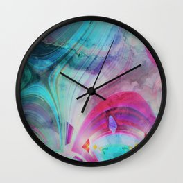 pastel geometrical asbtract Wall Clock